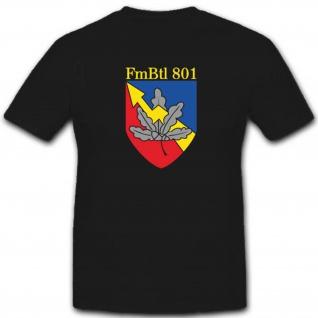 FmBtl801 Fernmeldebataillon 801 Bundeswehr Wappen Abzeichen - T Shirt #3352 - Vorschau 1