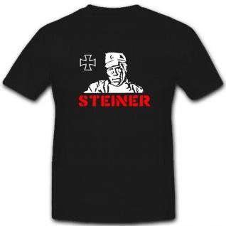 Steiner Eiserne Kreuz Film Kino WK Deutschland- T Shirt #3695