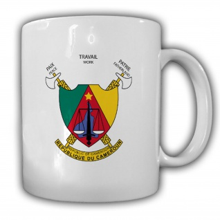 Republik Kamerun Wappen_Emblem Kaffee Becher #13532