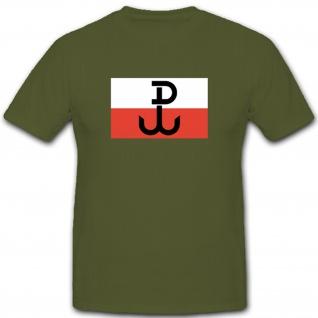 Wappen Abzeichen Fahne Flagge Polen Armee Emblem Polska- T Shirt #3302