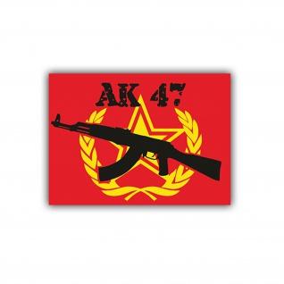 Aufkleber/Sticker Ak 47 Waffe Russland Udssr Stern 5x7cm A713
