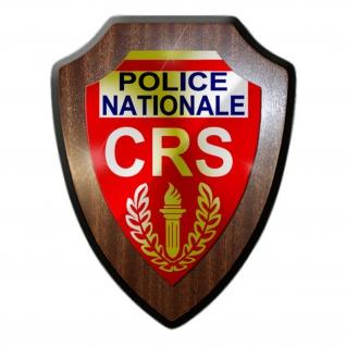 Wappenschild/Wandschild CRS Police nationale Compagnies - #14237