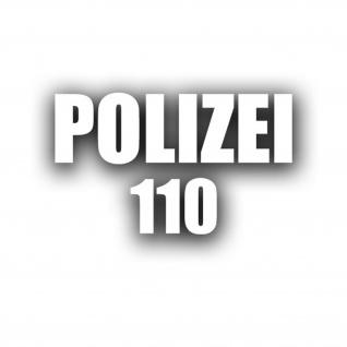 POLIZEI 110 Aufkleber Sticker Telefon Nummer Wachmann 1x 15x4cm 5x3, 5cm #A4510