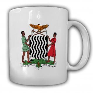 Republik Sambia Wappen Emblem Kaffee Becher Tasse #13877