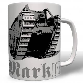 Militär Heer Britischer Wk Kampfpanzer England Mark IV Panzer Tasse # 16598