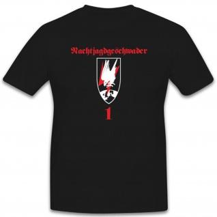 1.NJG Staffel Nachtjagdgeschwader Luftwaffe Wk 2 Wh Wappen T Shirt #2085