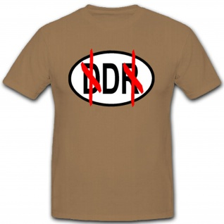 Ddr Ostdeutschland Berlin Kfz Land Schild Auto Fahrzeug T Shirt #2274