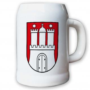 Krug / Bierkrug 0, 5l - Wappen Fahne Flagge Deutschland Hamburg Bundesland #9417