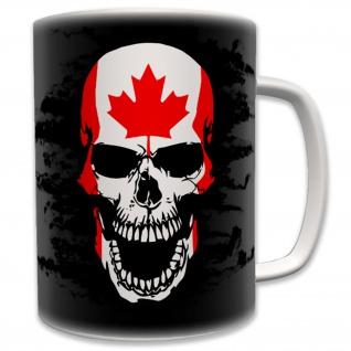 Canada Kanada Canadian Skull Armee Army Militär Kult - Tasse #6204