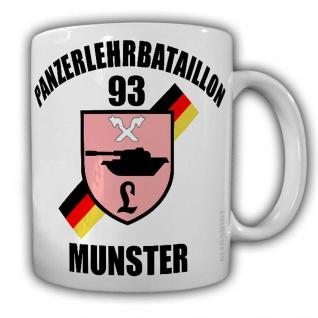 Tasse PanzerLehrBataillon 93 PzLehrBtl Munster Bundeswehr Wappen Abzeichen#24443
