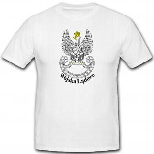 Militär Luftlande Einheit Armee Polen Polska Polnisch WK Wappen T Shirt #2327