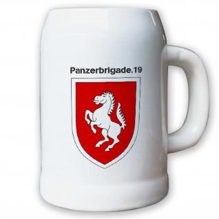 Krug / Bierkrug 0, 5l -Bierkrug Panzerbrigade 19 PzBrig Brigade Einheit #13012
