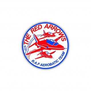 Aufkleber/Sticker Red Arrows Aerobatic Team Wappen Patch 7x7cm A1114