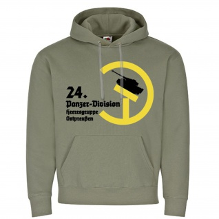 24 Panzer Division Heeresgruppe Ostpreußen Tiger Wappen - Kapuzenpullover #16224