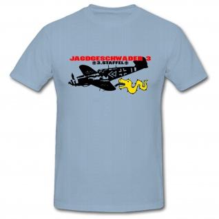 Jagdgeschwader 3 JG 3 Staffel 3 Luftwaffe Air force Ernst Udet Militär - T Shirt #1053