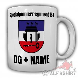 Tasse SpezPiRgt 164 mit NAME Spezialpionierregiment Wappen Abzeichen #24702