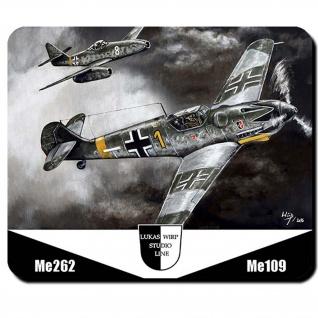 Mauspad Lukas Wirp Me109 & Me262 Jagdflugzeug Luftwaffe JG #24404