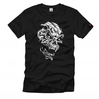 Schädel 21 Teufel Skull Augen Hörner Totenkopf Szene Halloween - T Shirt #774
