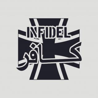 Sticker Aufkleber Bundeswehr Kreuz Infidel Crusader Soldaten 10x10cm #A072