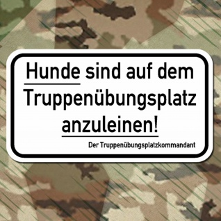 Truppenübungsplatz Hunde Schild Kommandant Deutschland Wandtattoo 45x25cm #A291