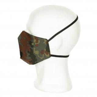 Bundeswehr-Flecktarn-Mundmaske Militär Tarnung Camouflage Survival #35545
