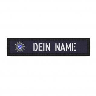 Patch Namens-Schild Polizei Bayern Klett Streifen personalisiert Uniform#36715