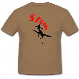 Stuka Bomber Ju87 Sturzkampfbomber Luftwaffe Deutschland - T Shirt #1175