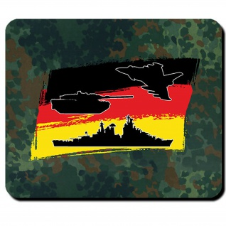 Luftwaffe Heer Marine Bundeswehr Bund Bw Deutschland Fahne - Mauspad #9991