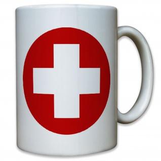 Schweiz schweizer Kokarde Fahne Flagge Wappen Abzeichen - Tasse #11589
