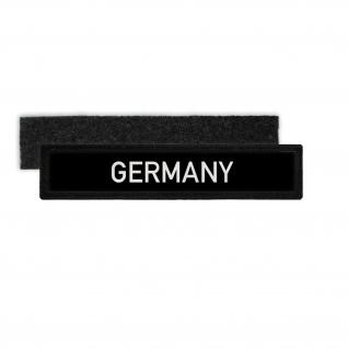 Namens-Schild Patch Germany Deutschland Schriftzug Klett Aufnäher Uniform#29163