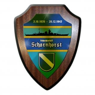Wappenschild Schlachtschiff Scharnhost Marine Wilhelmshaven Dampfkessel #24237