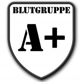 Patch / Aufnäher - Badge Blutgruppe A+ Blutspende Ausweis Transfusion #2622