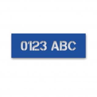 Schablonen-Aufkleber 8cm Text Höhe Aufkleber personalisieren 10 ZEICHEN#A5658
