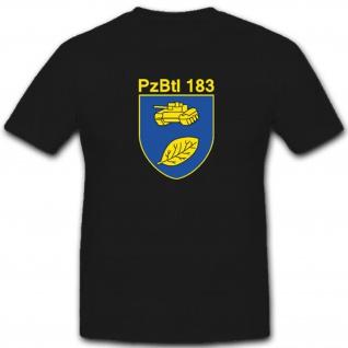 Panzerbataillon 183 Bundeswehr Wappen Abzeichen Emblem- T Shirt #4014
