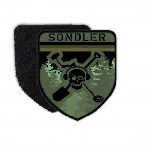 Patch Sondler Deutschland Camo Abzeichen Metaldetektor Aufnäher Suchen #35960