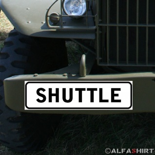 Magnetschild Shuttle Service Taxi Bus Mitfahrgelegenheit Fahrer Abholen #A359