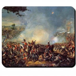 Schlacht bei Waterloo Gemälde Napoleon Engländer Franzosen 1815 Mauspad #16150