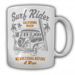California Beach Tasse - T1 Samba Bus Surf Rider Surfen Oldtimer Urlaub#26404