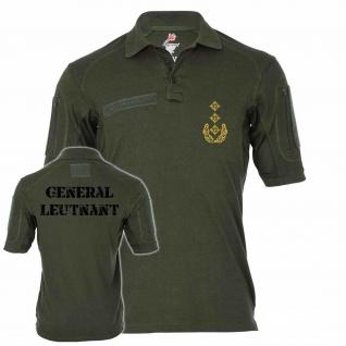 Tactical Poloshirt Alfa Generalleutnant Dienstgrad BW Abzeichen Offizier #19109
