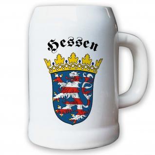 Krug / Bierkrug 0, 5l - Hessen Stadt Bundesland Geschichte BRD Frankfurt #9401