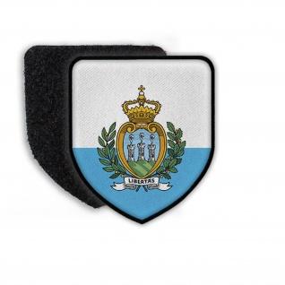 Patch Flagge von San-Marino Flagge Wappen Zeichen Land Nation Aufnäher #21388