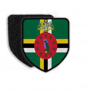 Patch Flagge von Dominica Wappen Flagge Ortswappen Landeswappen Abzeichen #21706