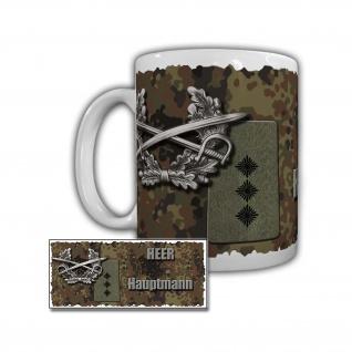 Tasse Heer Hauptmann Panzerbrigade 12 Oberpfalz Amberg Dienstgrad Hptm #29625