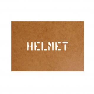 Helmet Helm Schablone Ölkarton Lackierschablone 2, 5x12cm #15192