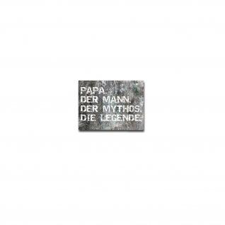 Aufkleber/Sticker Papa der Mann der Mythos Vater Vatertag Geschenk 10x13cm A4996