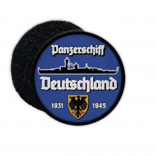 9cm Patch Panzerschiff Deutschland Marine Lützow Aufnäher Abzeichen#36400