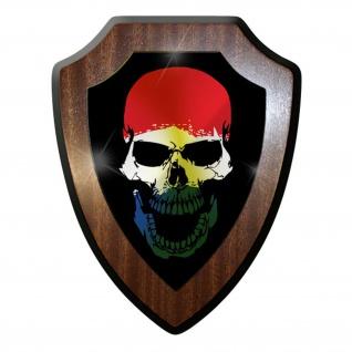 Wappenschild / Wandschild -Niederlande Holland Skull Netherland #9745