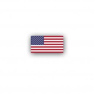 Aufkleber/Sticker Vereinigte Staaten von Amerika Flagge USA Fahne 7x3, 7cm A3046