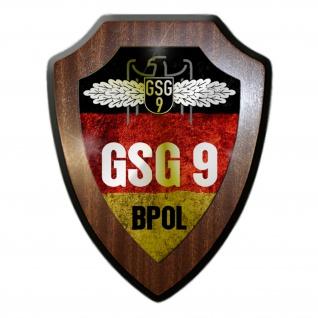 Wappenschild GSG 9 BPOL Grenzschutzgruppe Bundespolizei Abzeichen #21316