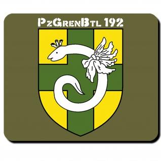 PzGrenBtl 192 Panzergrenadierbataillon Panzer Wappen Emblem Mauspad #5466